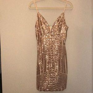 Rose Gold DRESS Brand: Tiger Mist // Size: Medium
